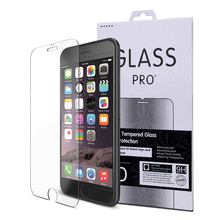 2017 best mobile phone guard 2.5d tempered glass screen protector for iphone 7 plus red