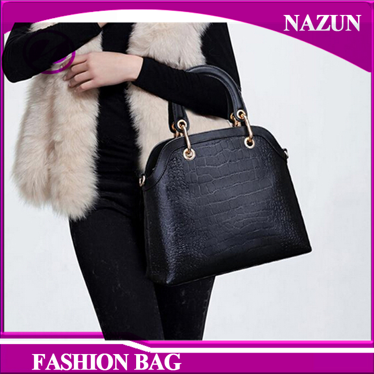 Korean 2016 fashion single shoulder pu leather texture lady women's shopping hand bag