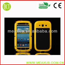 Hot Yellow Metal Aluminum Water/Duty Proof Case Cover For Samsung Galaxy S3 i9300