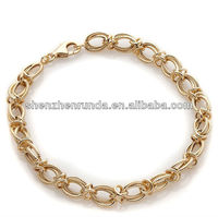 Diamond-Cut Double Interlocking-Link XO Bracelet Fashion Vners Jewellery Manufacturer & Factory & Supplier