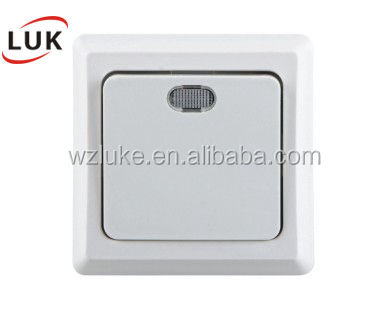 NE3103 LUK supplier ABS white safe wholisale electrical mangnetic led light switch