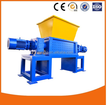 hot selling shredder machine for waste plastic wood metal iron bottle film rubber tire tyre block lump crate