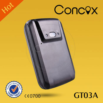 Concox GT03A Long battery life gps tracking device with free tracking software and SOS emergency