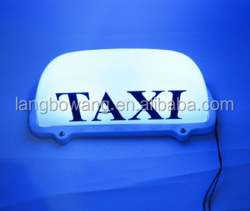 waterproof led taxi roof top sign