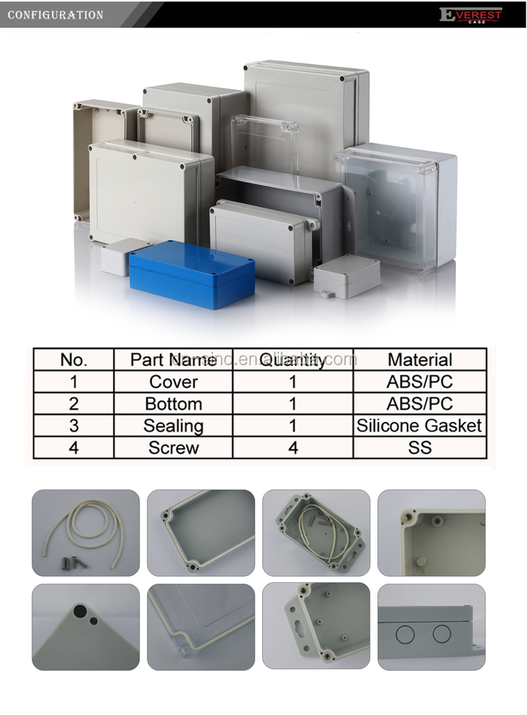 New Design Plastic Waterproof Enclosure For Electrical Instrument