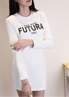 High quality fashion spring women's slim fit printing t shirt with long sleeve shirt made in cotton