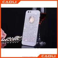 Luxury diamond clear crystal cell phone case for Iphone 6 6s Fashional Glitter powder rhinestone bling back cover