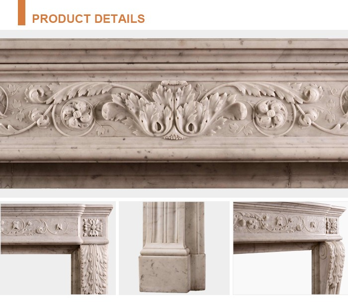 natural sandstone 100% hand-carved solid marble fireplace