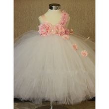 2018 summer Indian style girl party dress tutu dress flower girl wedding party dresses size 2-8 years