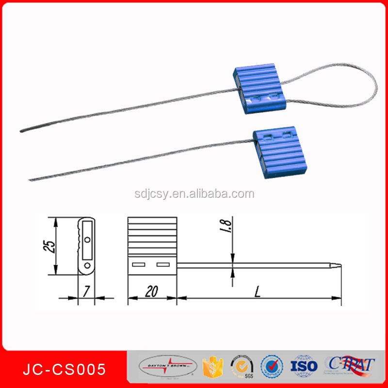 aluminum security container cable seal JCCS005