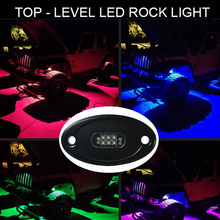 Wholesale 10-30V IP68 Waterproof 18W White Blue Red Green Amber Led Rock Light