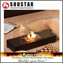 Indoor used home decor flame free standing ethanol fireplace bio fuel