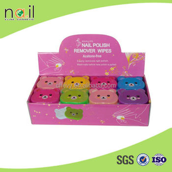 Lovely Nail Polish Remover Pads 6 colors