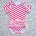Newest arrival 100% cotton chevron short sleeve baby boy bodysuit
