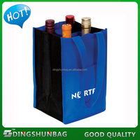 Economic useful 6 non woven wine bottle tote bag