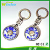 Winho Fashion Alloy keycahin with blue and white porcelain