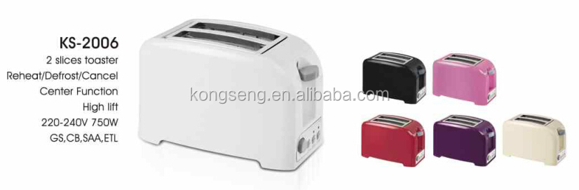 Plastic housing promotion toaster with ETL/UL certificate