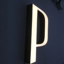 The New 2017 new vinyl mini led letters mirrow backlit resin sign board acrylic panel
