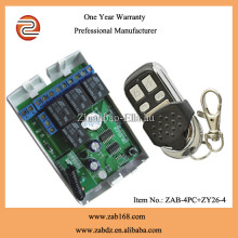 DC 12V 4CH RF wireless remote control relay switch for automatic garage door (ZAB-4PC+ZY26-4)