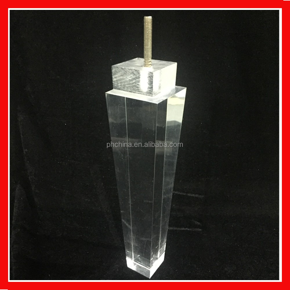 Acrylic Furniture Legs Dining Table Base