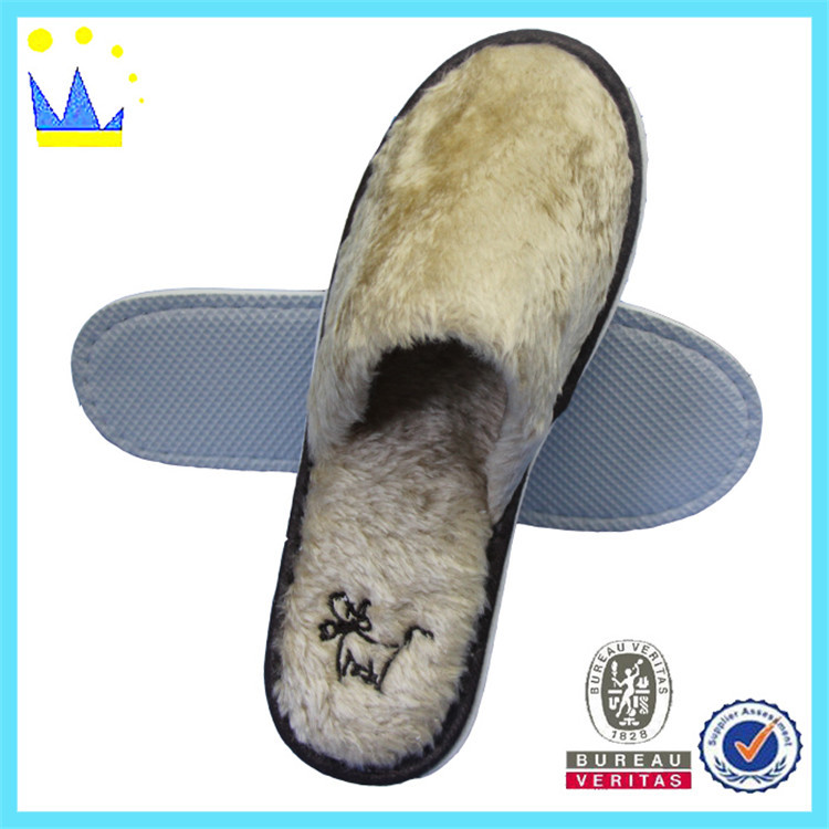 wholesale plush indoor slipper for home guests
