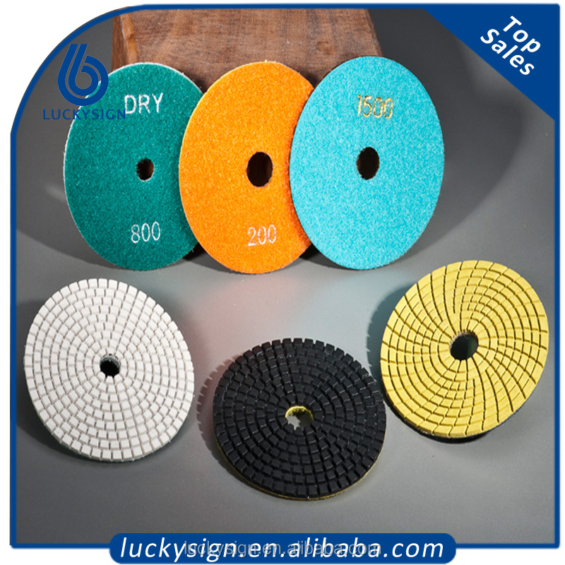 High Quality Diamond Hand Floor Dry Polishing Pad For Granite