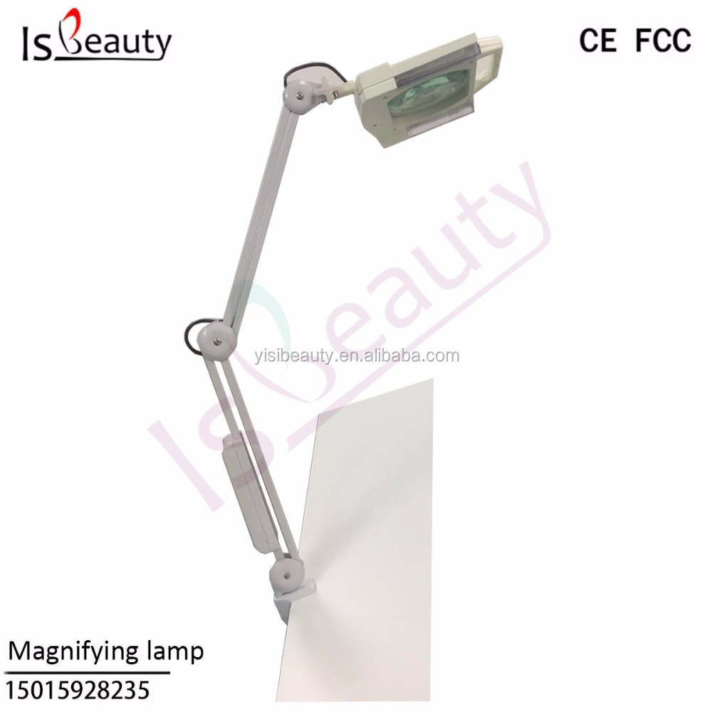 Table Desk Clamp Mount Magnifying lamp Optical Glass LED Magnifying Lamp for beauty and home use