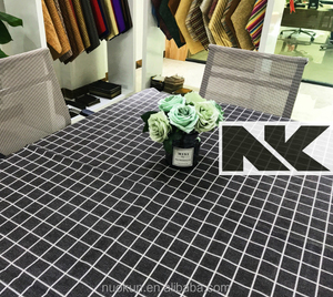 NK V024 PVC high quality waterproof table cloth with simple square