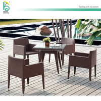Summer Top quality Aluminum PE rattan outdoor cafe furniture