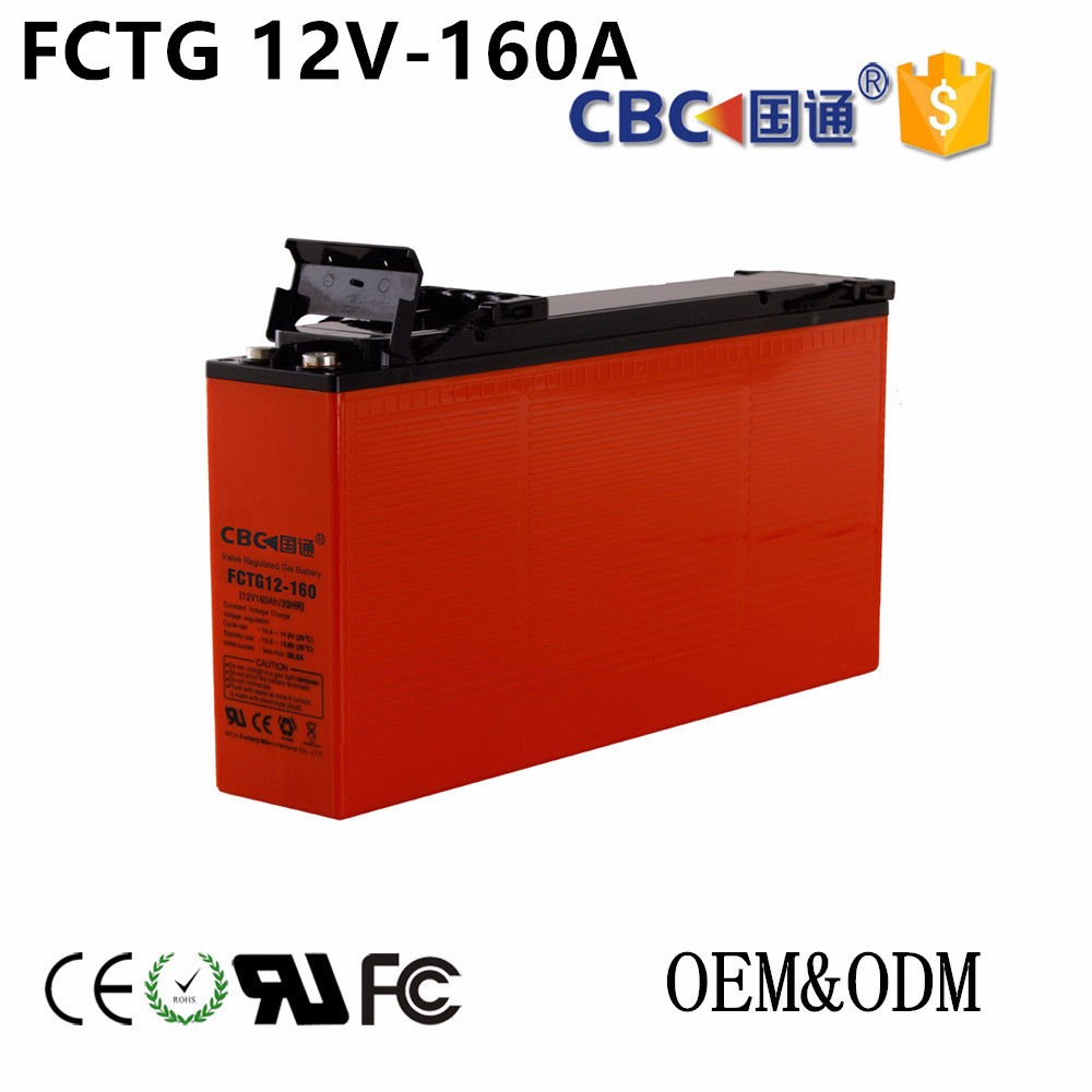 CBC Guotong 12V160AH Solar FCTG Front-access UPS Storage Rechargeable Battery For Solar System