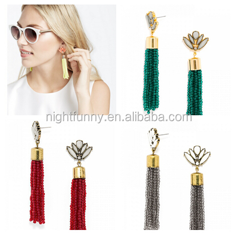Acid Fringe Tassel Drops Cabaret Tassel Drops Earring BaubleBar Earring Fringe Earrings