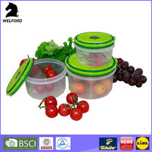 3pcs round shape oven and microwave safe food containers