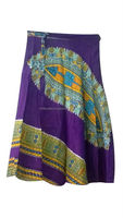 KTSK-1 Indian Traditional stylish African Dakshi Printed High Fashion Box Pleated Rapron Skirts For Girls From Jaipur Wholesaler