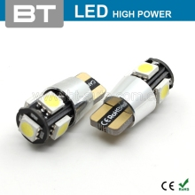 BT-AUTO Car Accessories Error Free High Lumen Canbus LED Light Bulb 24V W5W T10 5 Smd LED