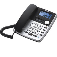 Uniden AS7502 - 2 line corded phone with Alarm clock, 3 way Conference Call, DND function, Wall Mountable, for office