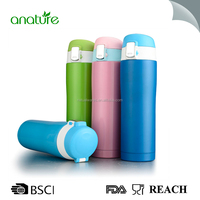 High quality one touch lock lid stainless steel insulated water bottle