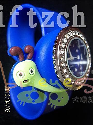 Jewelry children snail animal 3D silicone snap wristband watches