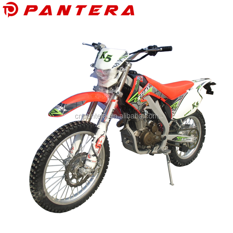 2018 High Quality Motocicletas Dual Disc Brake Off Road Motorcycle Gas Dirtbike 200cc 250cc 300cc