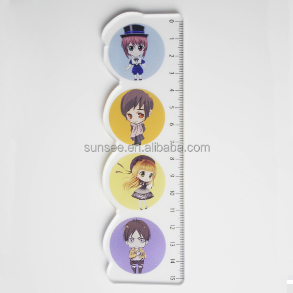 plastic making printing ruler with UV printing special for kids