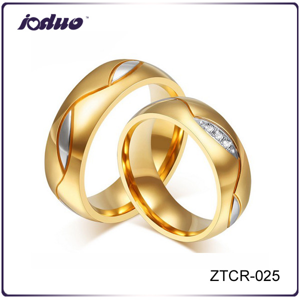 Korean Edition Fashion Couple ring <strong>18</strong> <strong>K</strong> Gold Plating Stainless Steel Rings