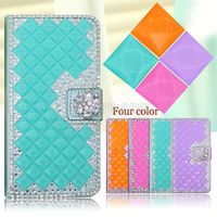 Luxury bling crystal diamond leather 3D cell phone case for Lenovo A3500
