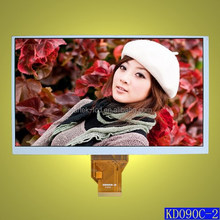9.0 inch TFT LCD panel,WVGA 800*480 pixels,24 bit RGB interface,16:9 in landscape,Stock for sale and never end of supply