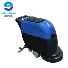 Walk behind Floor Scrubber dry press cleaning machine With battery for hotel/supermarket/airport