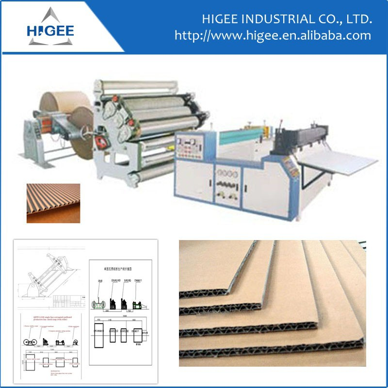 One-side corrugated cardboard Single face carton making machine