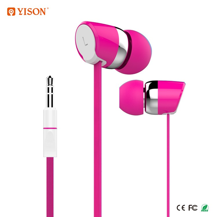 Celebrat Cheap Plastic In-Ear Fashion Music Ear Buds Super Bass Headphone and Earphones for MP3