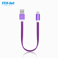 New usb shielded short noodles high speed nicro cable 2.0 data cable