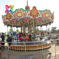 Amusement park mini carousel rides for sale