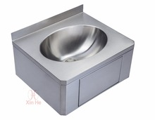 Hospital hand washing basin knee operated sink
