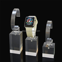 3pcs Set Clear View Acrylic Watch Display Stand Watch Holder With C Circle