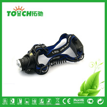 super Bright Headlight Rechargeable 2000 Lumens XM-L T6 LED Headlamp Zoomable Adjustable Focus Head Light Lamp